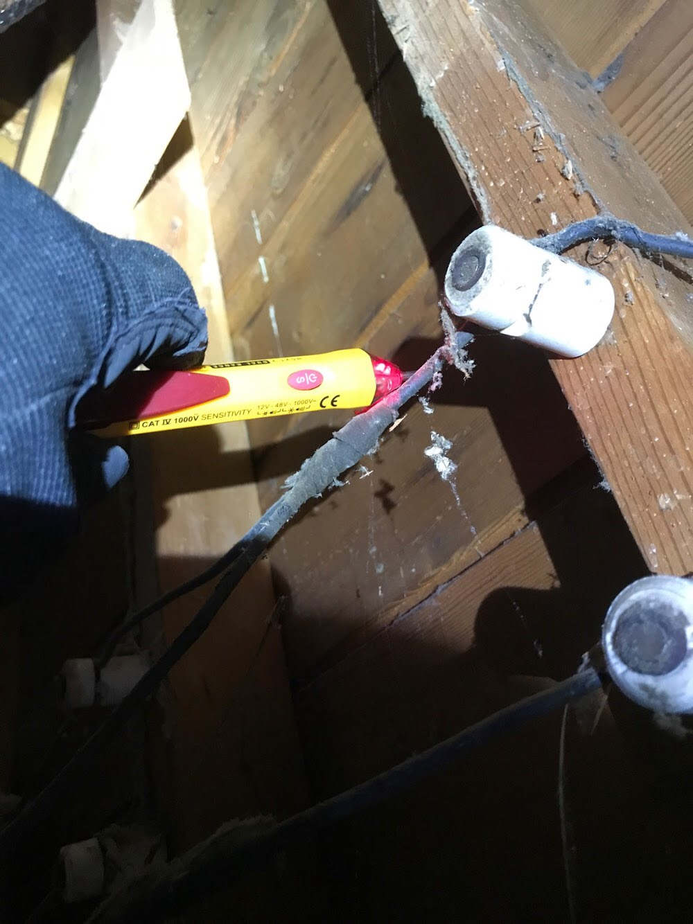 live knob and tube wiring in boise attic